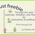 August Freebie- Through the Year Calendar Weather Attendan
