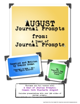 Free August Journal Prompts Writing Exercises