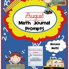 August Math Journal Prompts