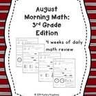 August Morning Math: 3rd Grade Edition