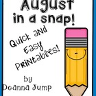August in a Snap: Monthly Printables
