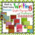 Month by Month Writing Prompts, Graphic Organizers, Papers