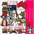 Australia LINE ART bundle by melonheadz