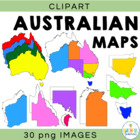 Australia Map Clipart