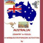 Australia: World in Focus(Webquest/Extension Activities)
