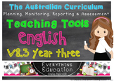 Australian Curriculum English YEAR 3 Monitoring and Planni