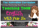 Australian Curriculum English YEAR 6 Monitoring and Planni