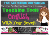 Australian Curriculum English YEAR 7 Monitoring and Planni