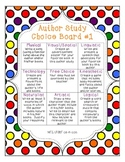 Author Study Choice Boards