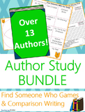 Author Study {Comparison & Contrast Writing and Game} BUNDLE