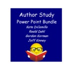 Author Study Power Point Bundle:  DiCamillo, Kinney, Dahl, Korman