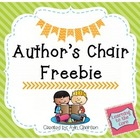 Author's Chair Posters {Freebie}