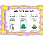 Author's Purpose Anchor Chart or Poster