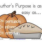 "Author's Purpose ""Easy as P-I-E"" material kit"