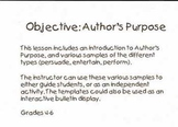 Author's Purpose Extravaganza