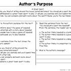 Author's Purpose: Persuasive Text Freebie
