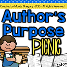 Author's Purpose Picnic: Centers and Independent Practice