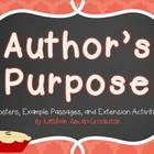 Author's Purpose Posters and Activities