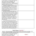 Author's Purpose Sample Pargraphs and Worksheet (Snow)