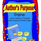 Author's Purpose Snacks Literacy Center and Worksheets