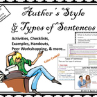 Authors' Styles and Types of Sentences: A Workshopping Approach