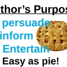 Author's purpose sign: easy as PIE