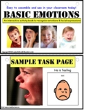Autism Activity Emotions Interactive Book {Early Childhood}