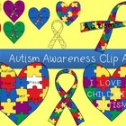 Autism Awareness Clip Art Set