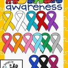 Autism Awareness Ribbons Clip Art/ Graphics