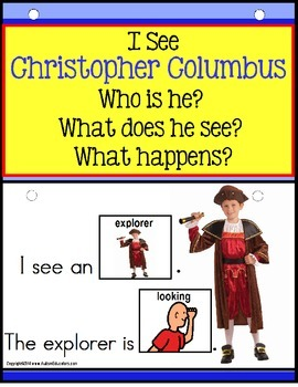 Autism - Build A Sentence with Pictures Interactive - CHRISTOPHER COLUMBUS