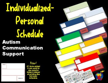 Autism Communication Support Individualized Personal Sched