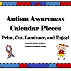 Autism Themed Calendar Pieces