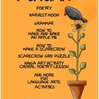 Autumn ELA Student Worksheets and Art Activities