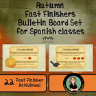 FLASH SALE! Autumn Fast Finishers Bulletin Board Set for y