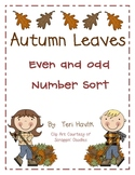 Autumn Leaves Even and Odd Number Sort