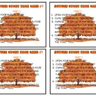 Autumn Story MS Word Task Cards