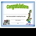 Award Certificate  -  Reading 2