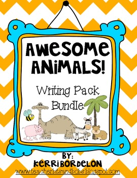 Awesome Animals! Writing Center Bundle