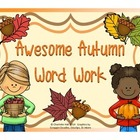 Awesome Autumn Vocabulary Word Work