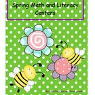Awesome Spring Literacy and Math Centers