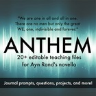 Ayn Rand's Anthem Unit Worksheets, Projects, and Journals