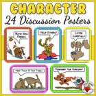BACK TO SCHOOL POSTERS - 23 Fun Character & Study Skills M