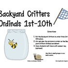 BACKYARD CRITTERS ORDINAL NUMBERS 1ST-10TH