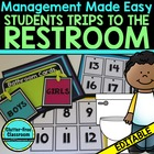 BATHROOM CARDS for CLASSROOM MANAGEMENT-BLACKLINE DESIGN