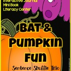 BATS & PUMPKIN FUN - Interactive journal, mini book, and l