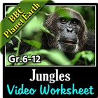 BBC Planet Earth - JUNGLES Episode - Video Questions Worksheet