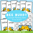 BEE BUDDY - A Printable Game to Learn About Synonyms
