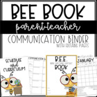 BEE Book Binder {editable version}