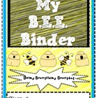 BEE Organizational Binder Cover