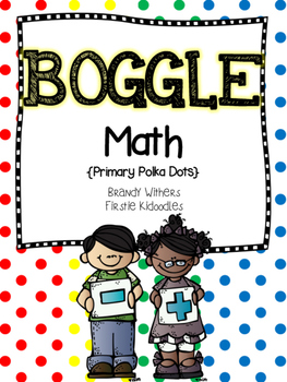 BOGGLE Math {Primary Polka Dots Edition}